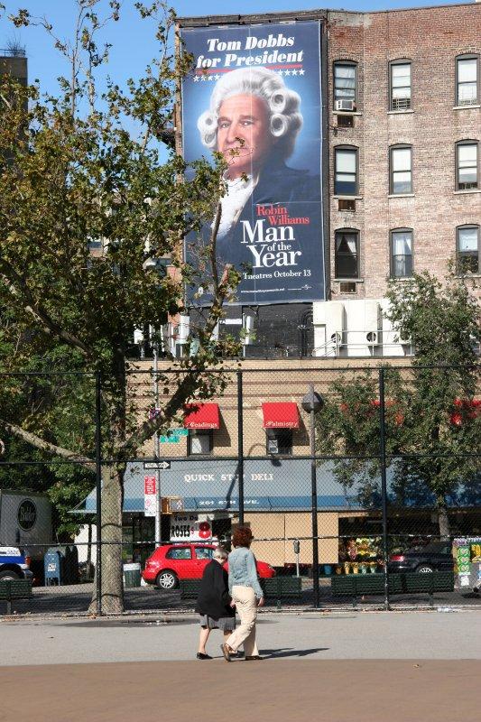 Sixth Avenue Playground - Man of the Year Movie Billboard