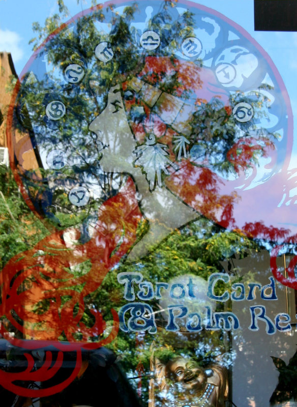 Tarot & Palm Reader Window