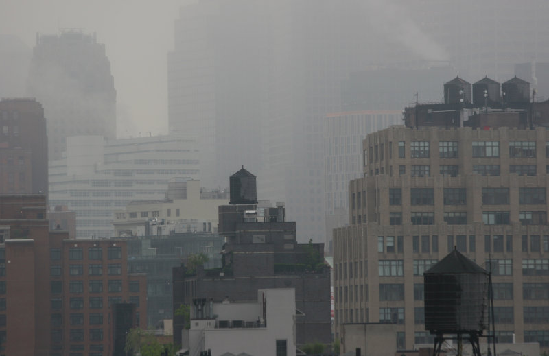 Foggy Morning - Downtown Manhattan