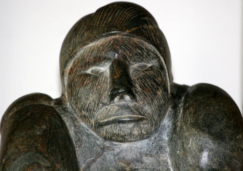 Fisherman - Inuit Soapstone Carving
