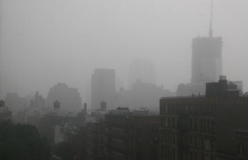 Afternoon Rain Storm - Downtown Manhattan
