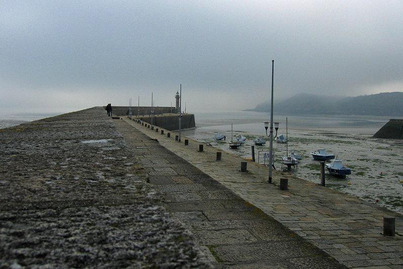 Marée basse et la brume