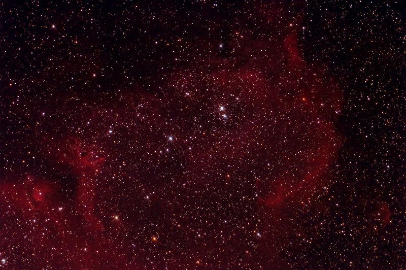 IC 1848, SH 2-199, LBN 667 Soul Nebula Body in Cassiopeia - 2000 pixels
