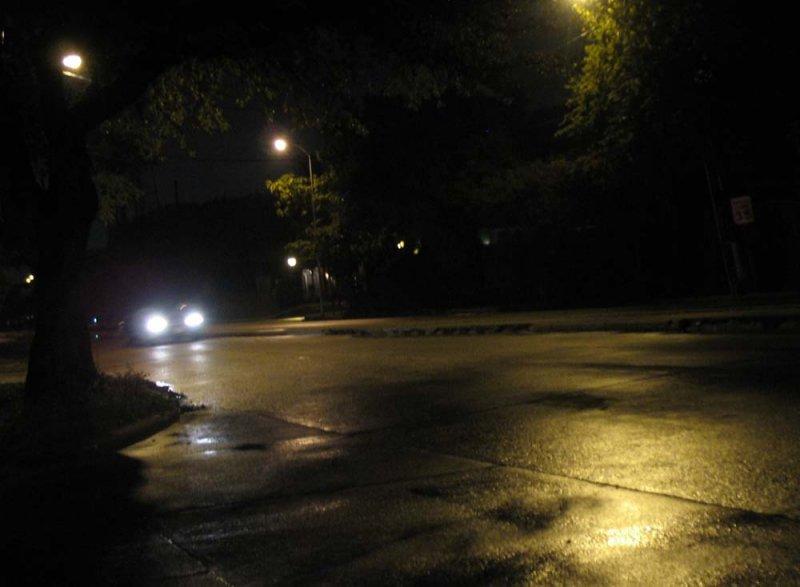 summer night in my neighborhood