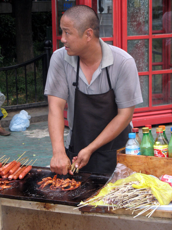 Grilled Tentacles on a Stick