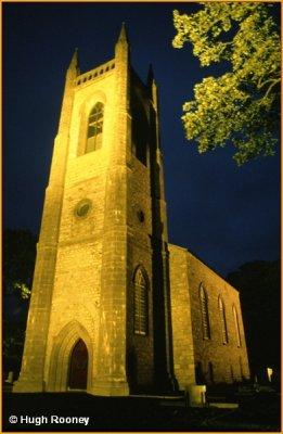IRELAND - CO.SLIGO - DRUMCLIFFE CHURCH BY NIGHT