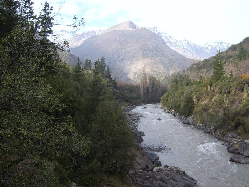 santiago de Chile, el cajon del Maipo