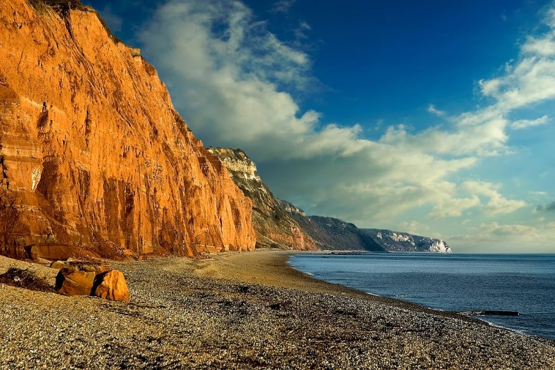 Red cliffs, Sidmouth