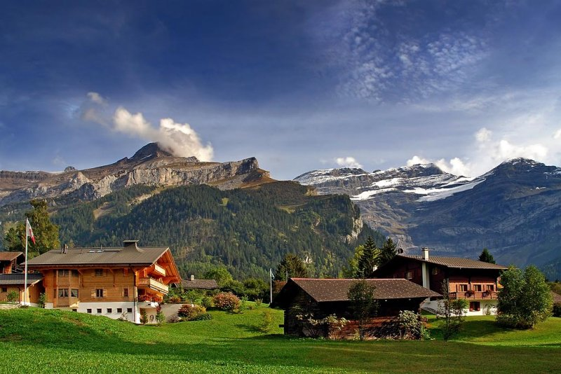 Chalets old and new, Les Diablerets (5114)