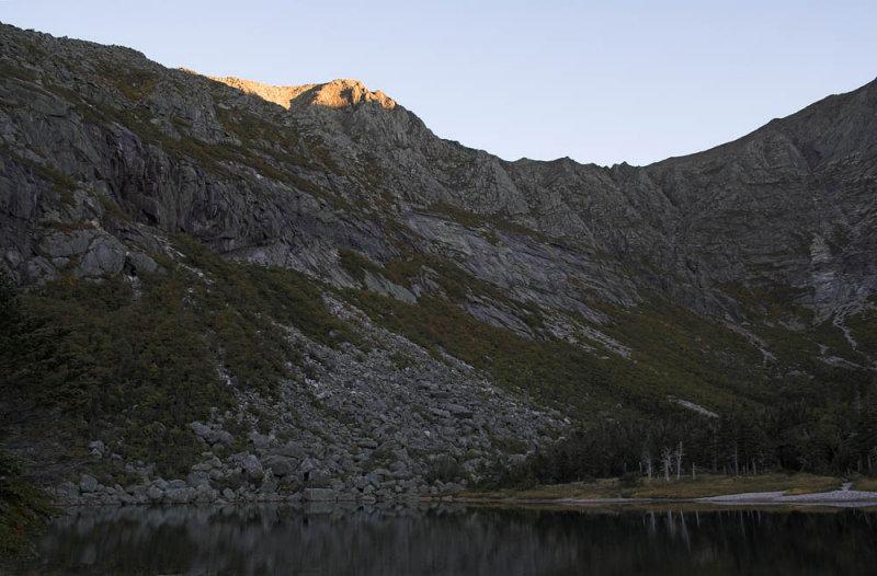 Panola Peak at sunset