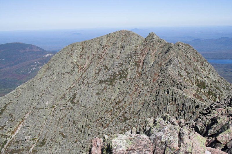 Panola Peak center, Dudley Trail to the left, Knife Edge to the right