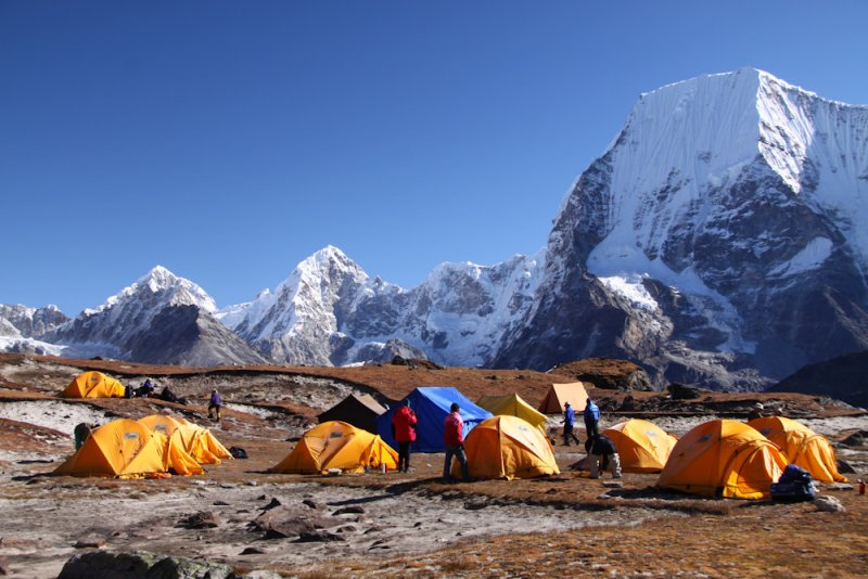 Ramdung base camp 5050 m