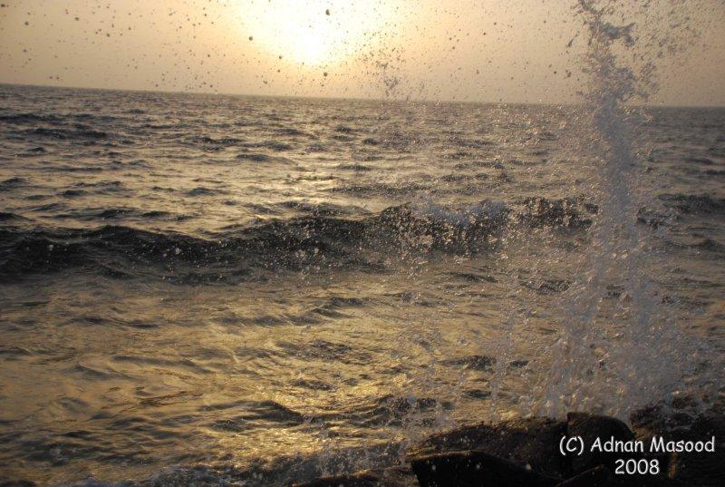 17-Sun waves and sea.JPG