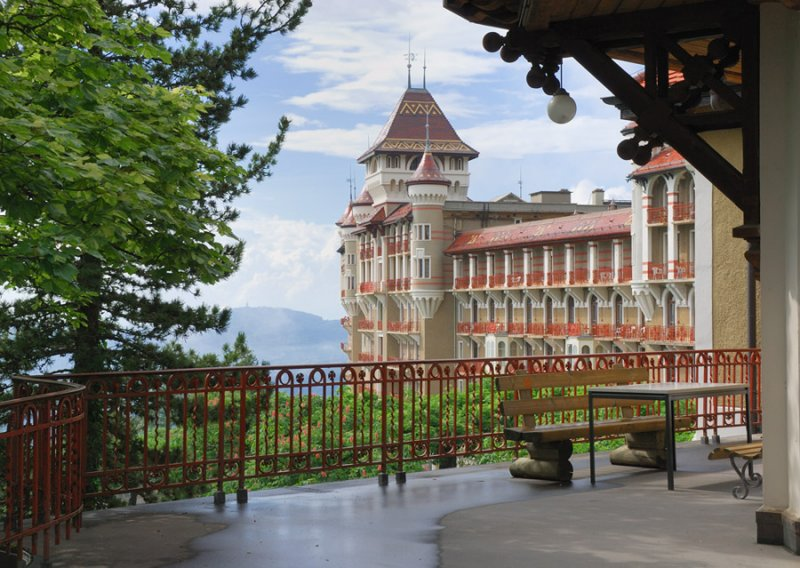 First view of the Caux Conference Center