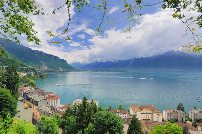 View over Southern Lake Geneva (Lac Leman)