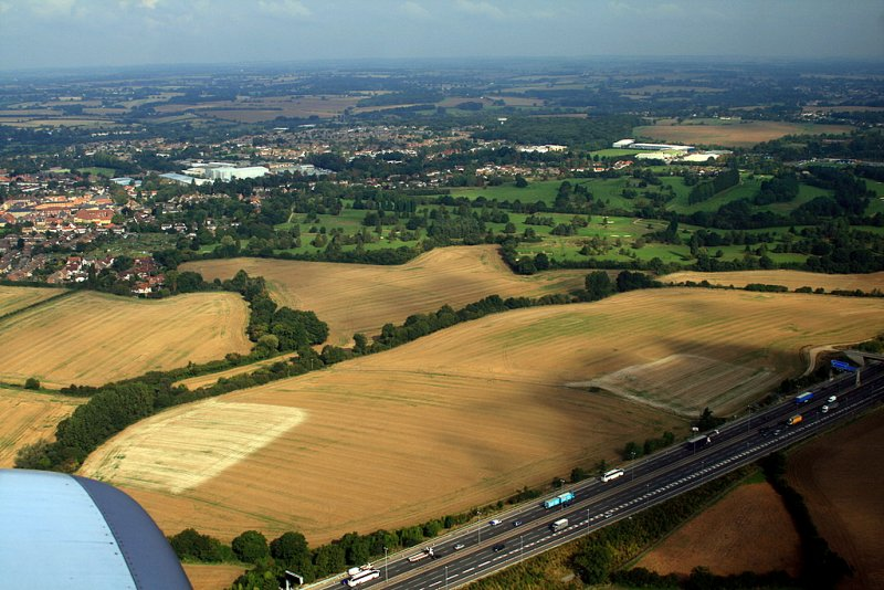 above Stansted.