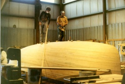 building the 26 mould plug, in early 1980