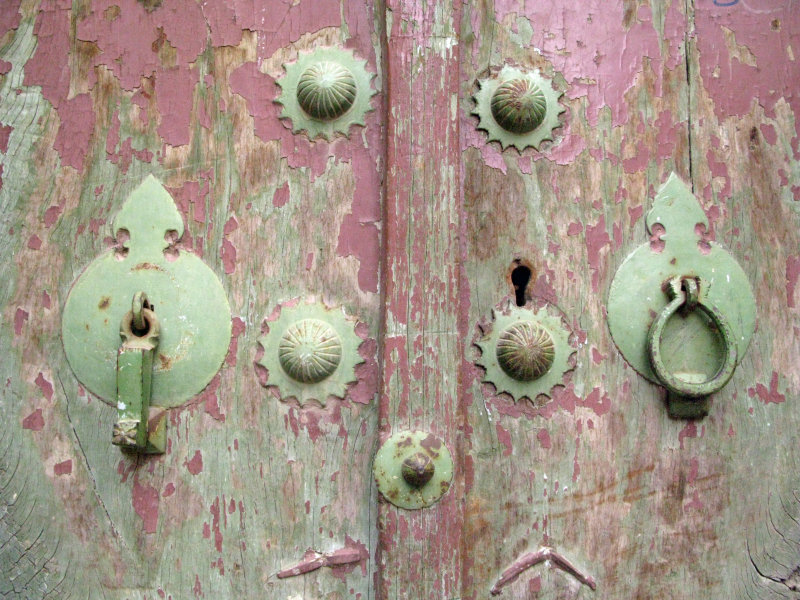 Yazd Old City, door detail