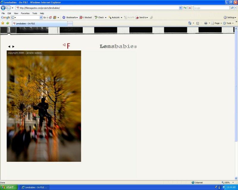 File Magazine Lensbaby Gallery December 2008