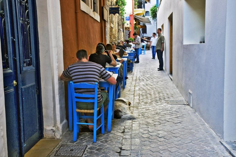 Restaurant in a small lane