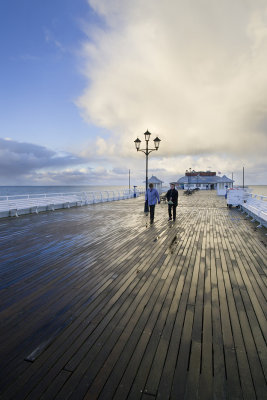 Cromer Pier in Squally Weather