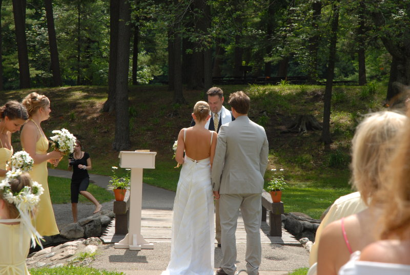 Such a beautiful day for a wedding.  So much love in the air.