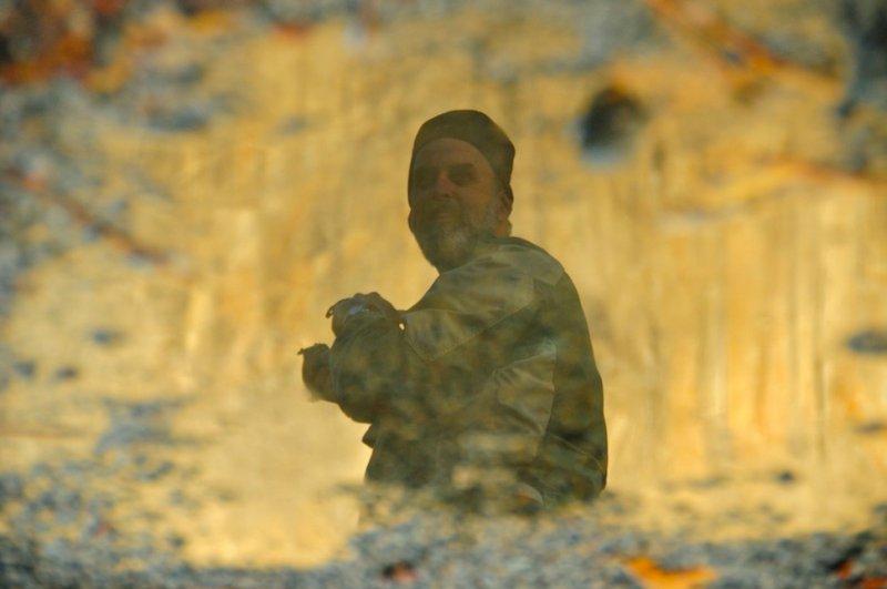 In Reflection in a Rain Puddle - Below El Capitan