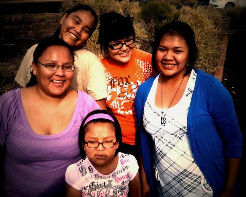 Navajo Family Visits the Home of their Ancestors - Wupatki Ruins