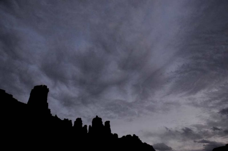 Storm Clouds over Fisher Towers