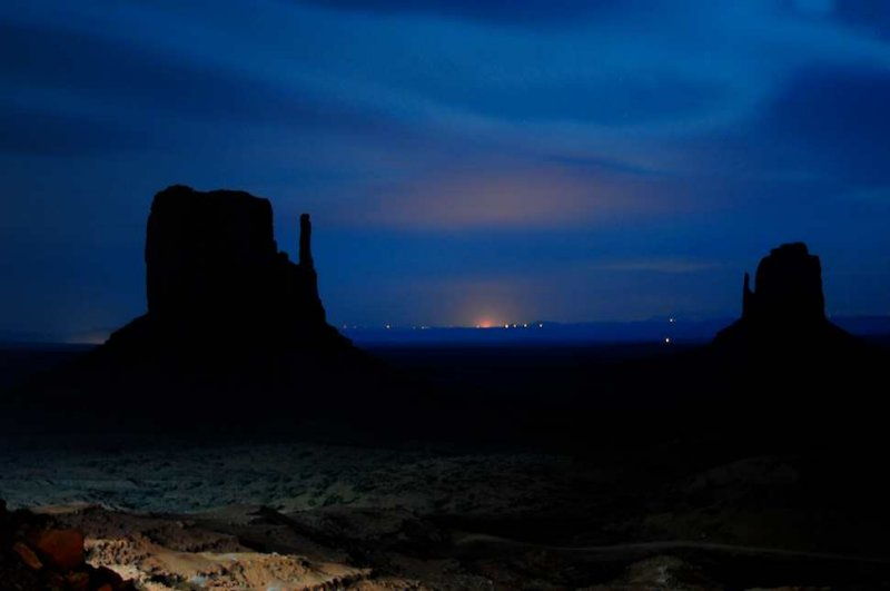 Monument Valley and Beyond, from My Hotel Balcony - 4:54 a.m.