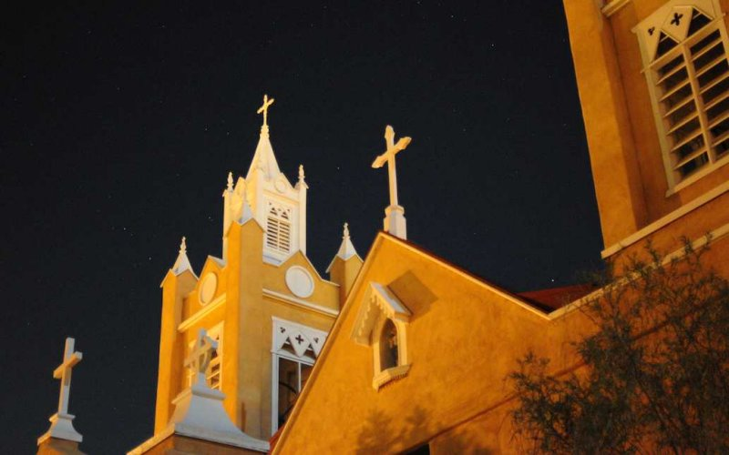 San Felipe de Neri Church in Old Town, Albuquerque, New Mexico