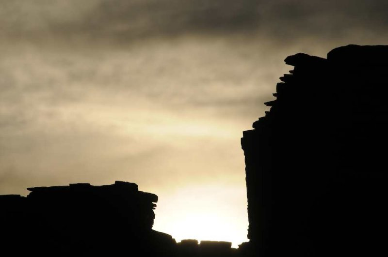 Chaco Ruins in Silhouette