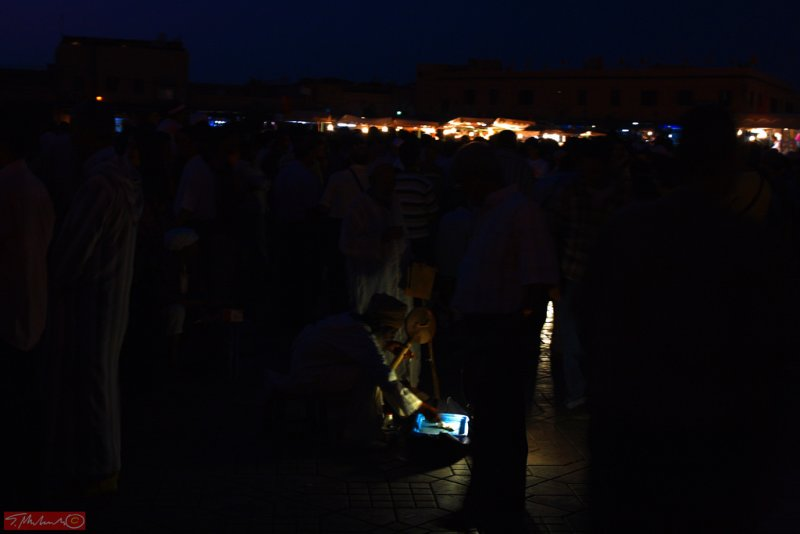 Night market in Marrakech / Morocco