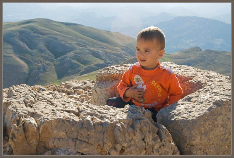 Admiring the view in Nemrut Dagi