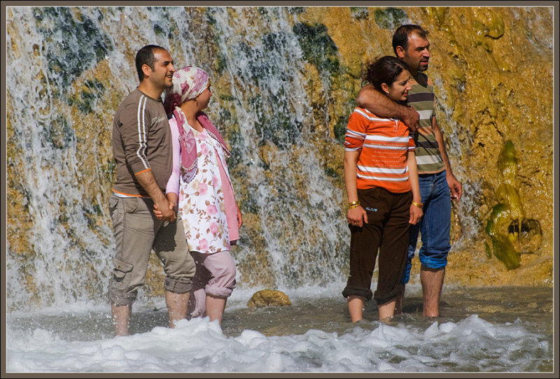 In the Muradiye waterfall