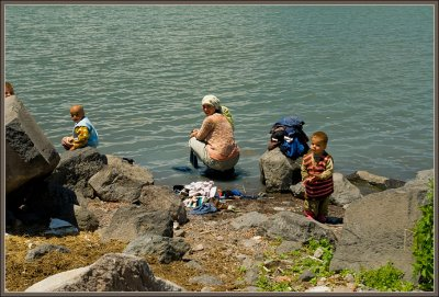 Lake Cildir villagers