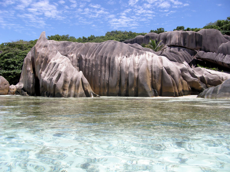 Near Anse Source dArgent, La Digue Island, SEYCHELLES