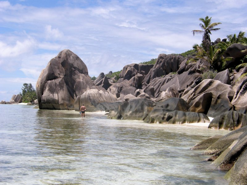 Near Anse Source dArgent, La digue Island, SEYCHELLES