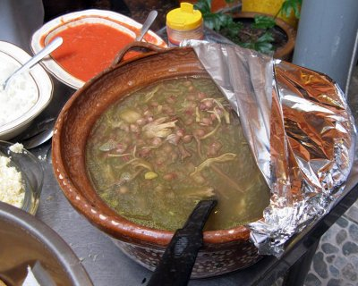 A special treat—pozole verde