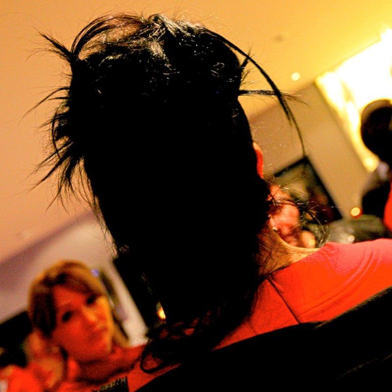 Black & Red Headturner
