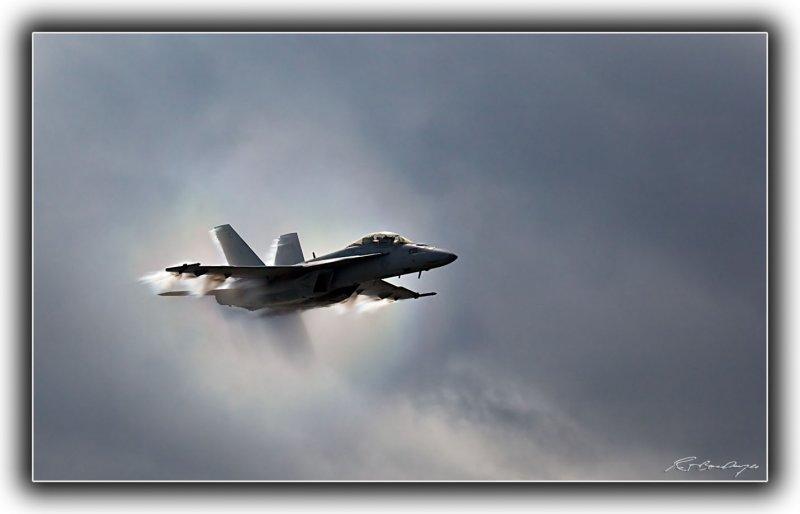 F18 Getting Close to Mach
