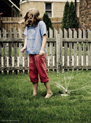 Road Trip - Day 8 (Fun with the sprinkler)
