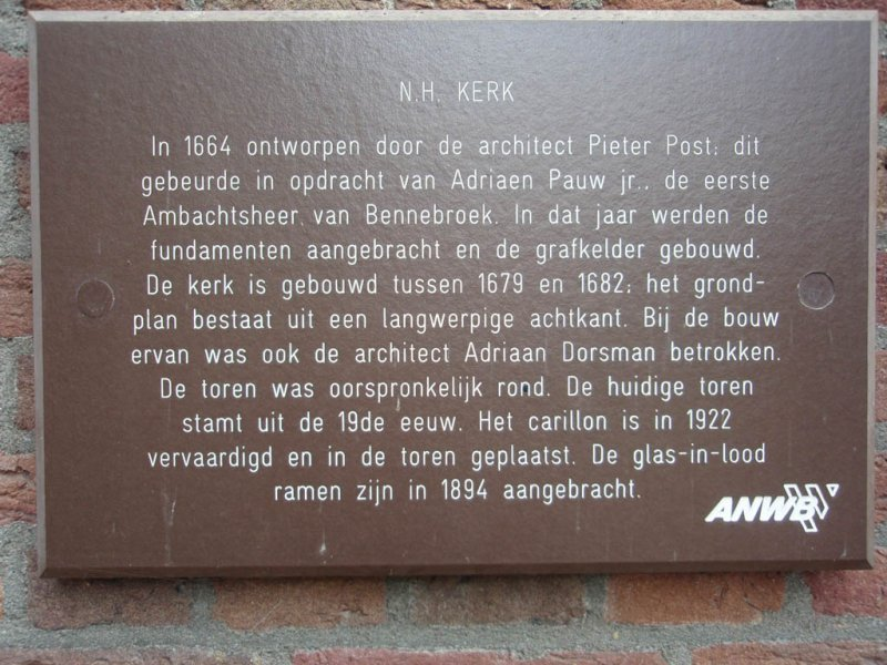 Bennebroek, PKN kerk info, 2008.jpg