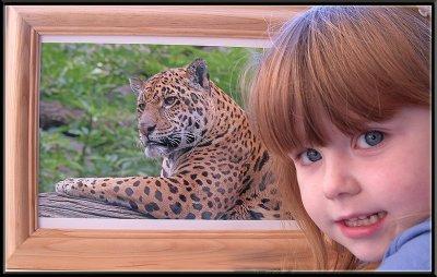 Heather with daddie's Leopard photo