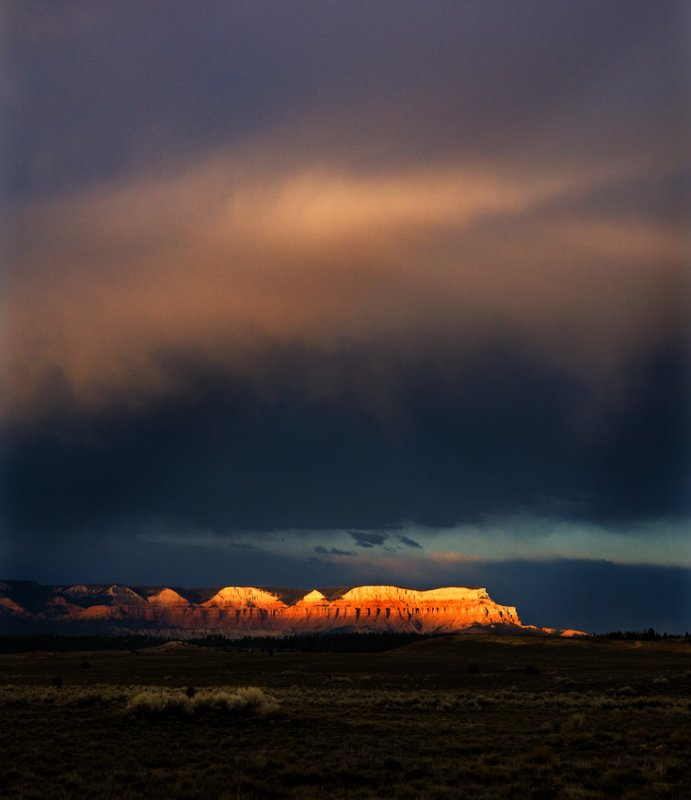 The day is ending ..and we are approaching Bryce Canyon..
