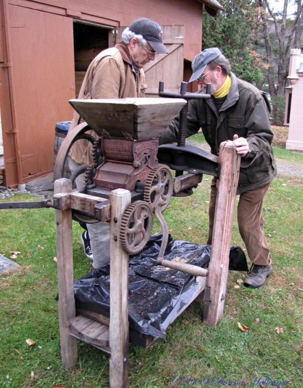 David H. and David M. Putting the Cider Press Together