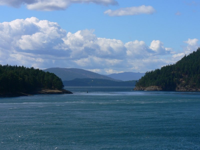 View from the ferry to Vancouver Island