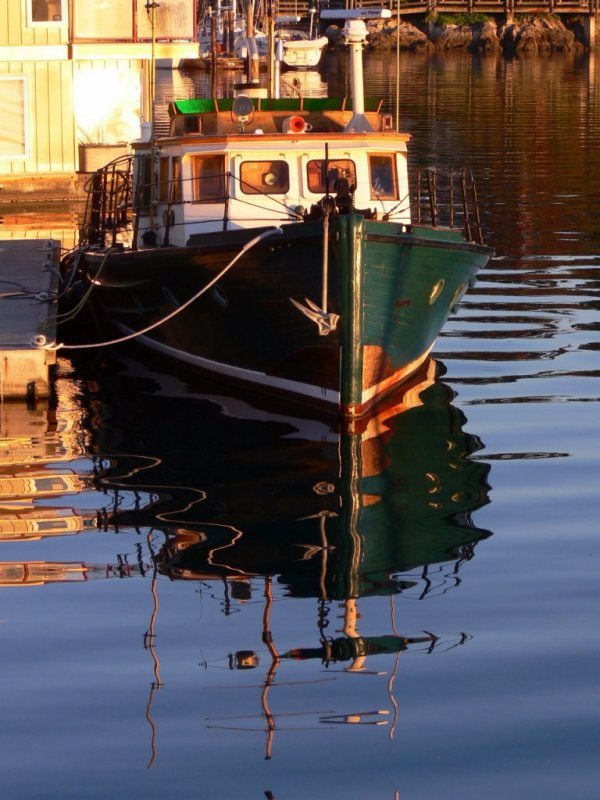 Fishing boat at West Bay Marina in Victoria Harbour