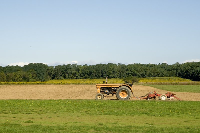 tractor on the farm