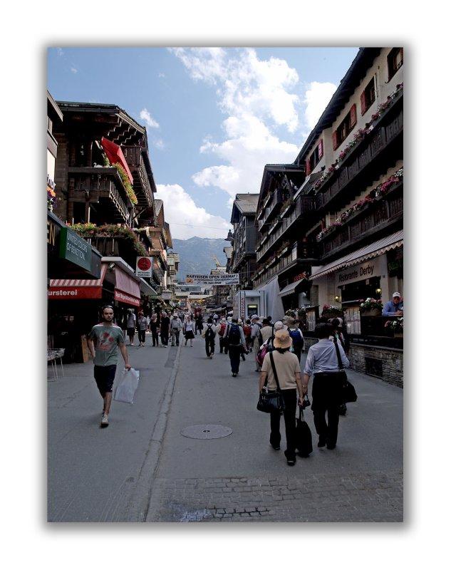 Rue principale de Zermatt